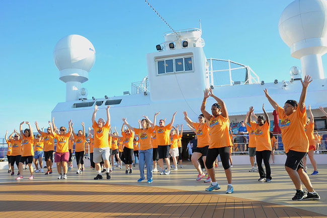 "Last year's CruiseOne and Cruise Inc.'s annual ""Zumba@Sea—Dance For Wishes."""