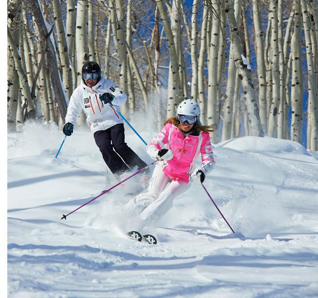 Skiing in Beaver Creek. (Photo credit: Jack Affleck.)