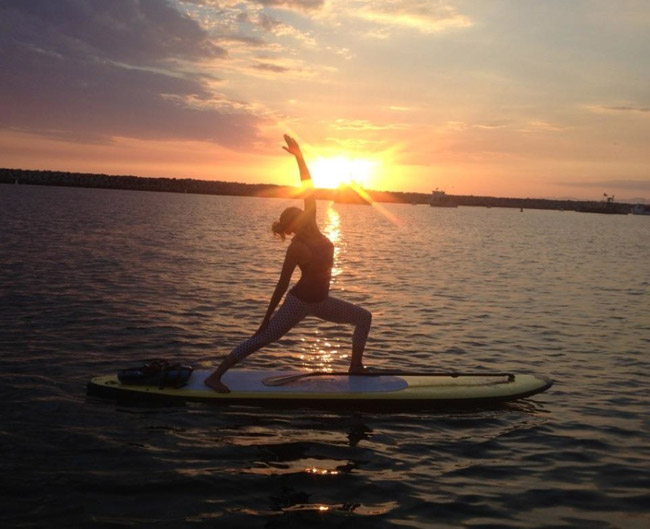 Paddleboard Yoga retreats in CostaBaja Resort and Spa in Mexico.