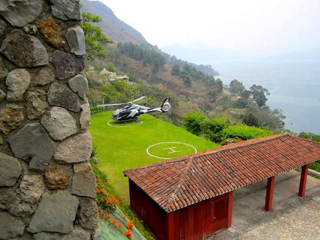Casa Palopo's heli pad.