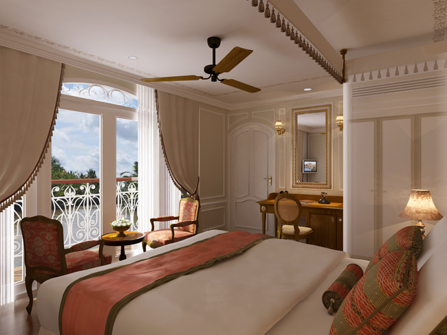 The Apsara Suite on the Mekong Princess, part of Haimark's suite.
