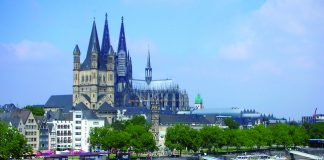 Cologne Cathedral and the Rhine River.