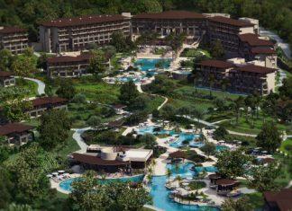 A aerial rendering of Dreams Las Mareas Costa Rica.