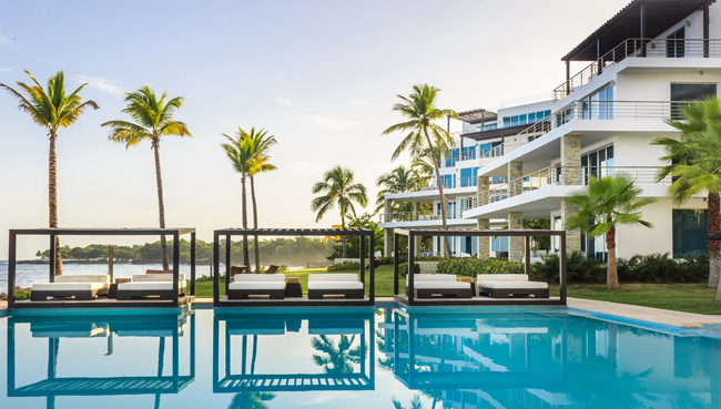 The pool at the new Gansevoort Playa Imbert in the DR.