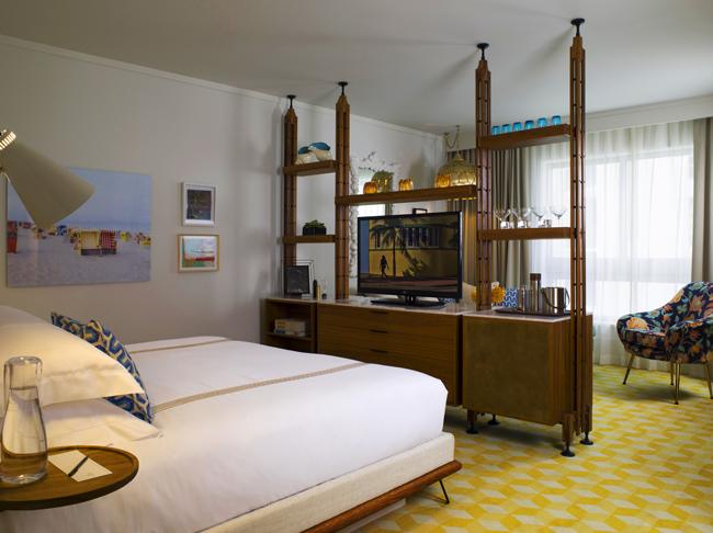 Thompson Miami Beach's Junior Suite. (Photo courtesy of: Thompson Miami Beach.)