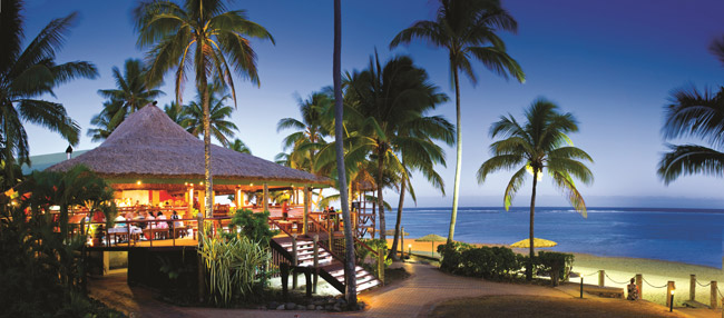 The Sundowner Bar Grill at the Outrigger on the Lagoon in Fiji.