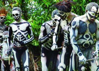 Papua New Guinea's Skeleton People.