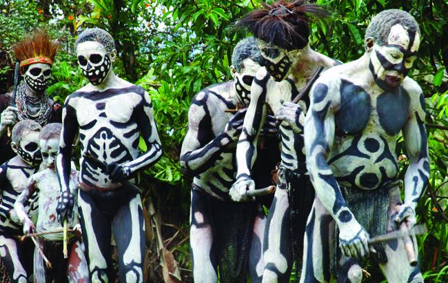 Papua New Guinea's Skeleton People.