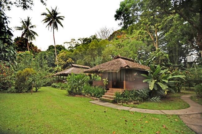 Bungalows at Walindi Resort, Papau New Guinea.