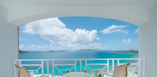 Standard Ocean View Room Balcony at Dreams Sugar Bat St. Thomas.
