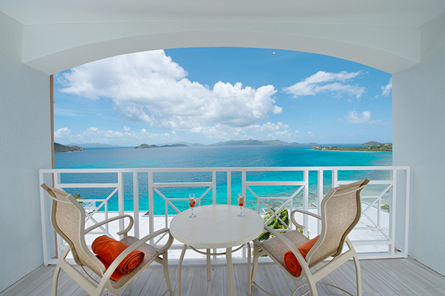 Standard Oceanview Room balcony at Dreams Sugar Bat St. Thomas.