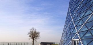 The Hyatt Capital Gate in Abu Dhabi.