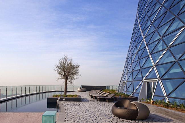 The Hyatt Capital Gate in Abu Dhabi.