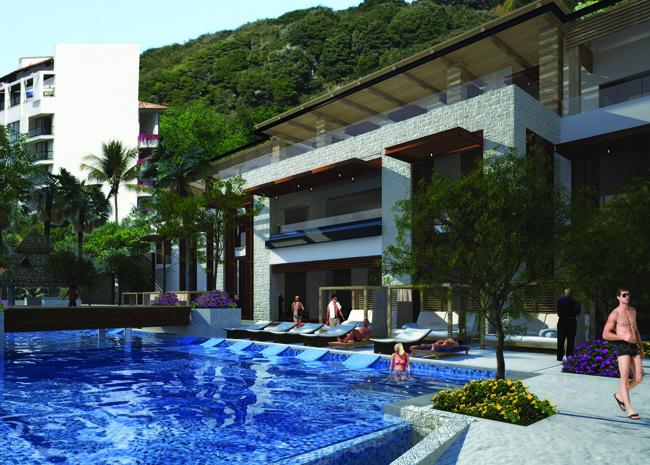 Poolside at Hyatt Ziva Puerto Vallarta.