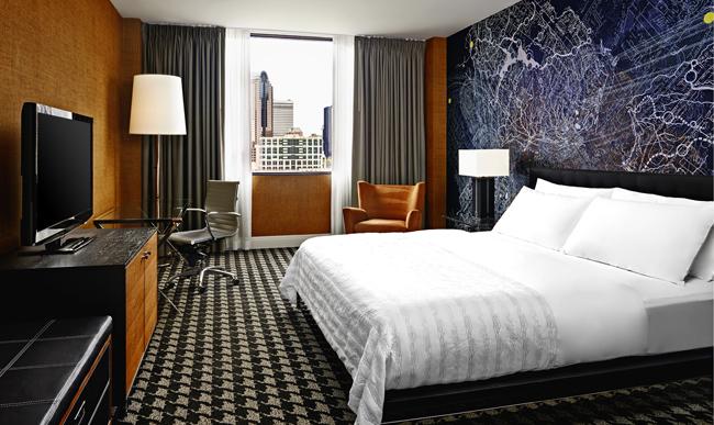 Le Meridien Charlotte King City View guestroom.