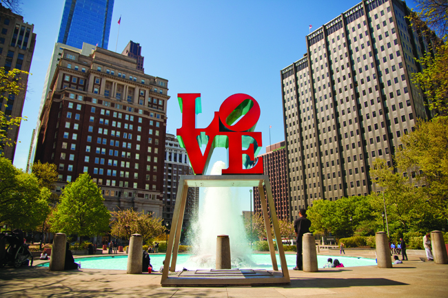 Love Park near City Hall in Philly.