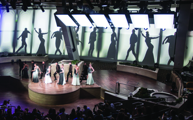 Starwater at Two70 is one live performance onboard the Quantum of the Seas.