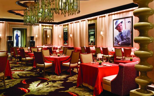 Sinatra restaurant at Encore.