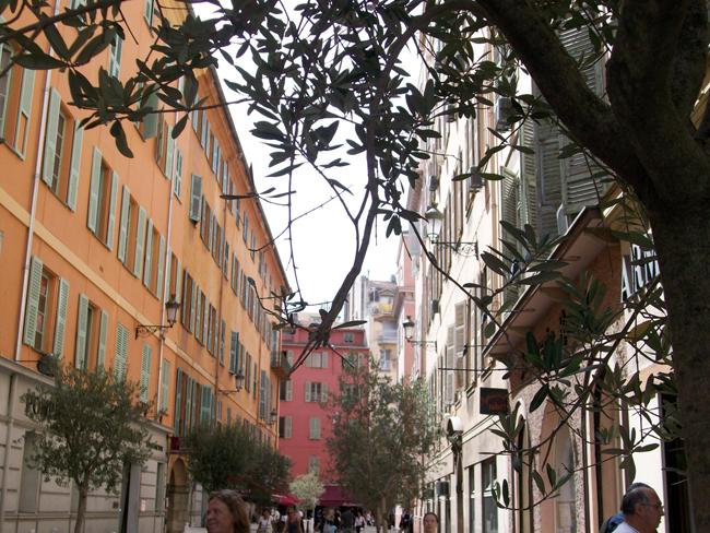 The street to Cours Saleya.