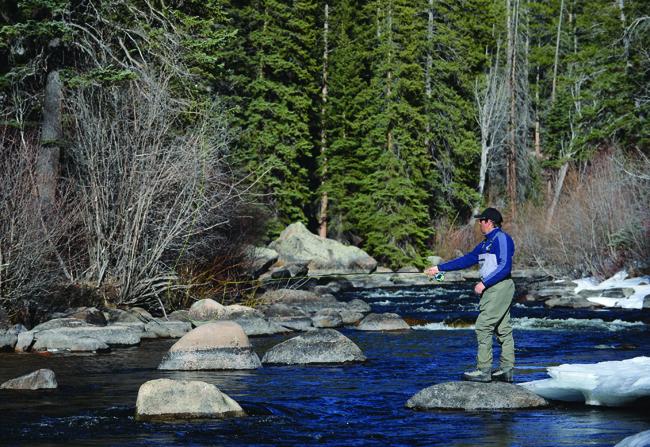 Trout fishing at Taylor River Lodge.