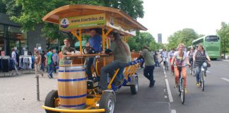 Beer bike tours, a different perspective on Berlin.