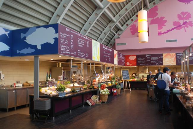 The food court at KaDeWe.