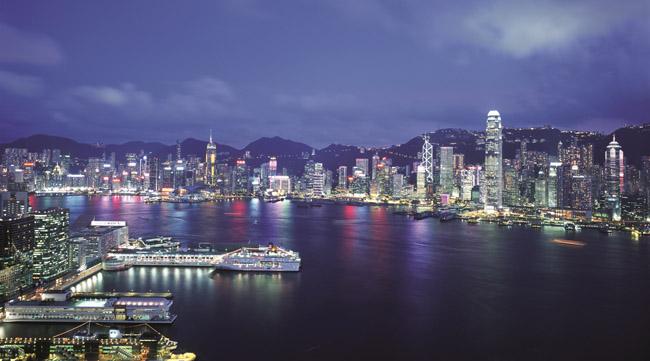The view of Hong Kong's waterfront. (Photo courtesy of Hong Kong Tourism Board.)