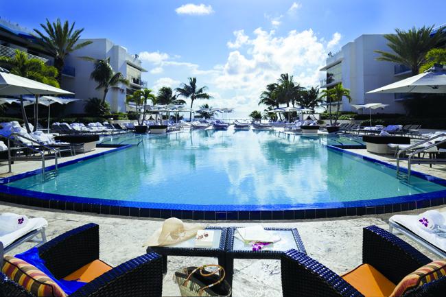 Poolside at The RitzCarlton, South Beach.