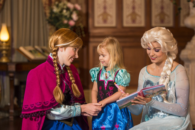 Guests can take part in the fantasy with meet-and-greets with Disney characters, Anna and Elsa.