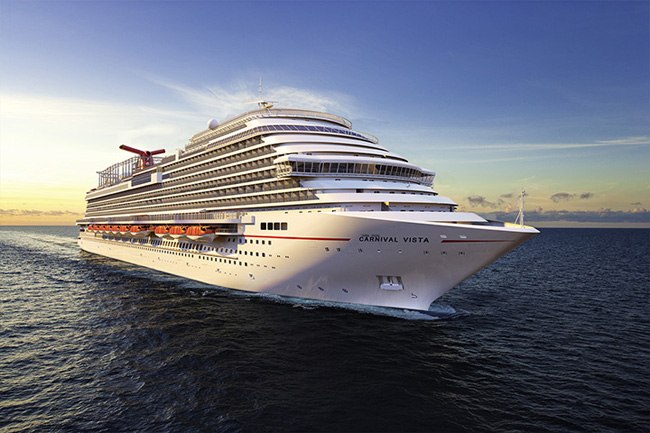 Carnival Vista open for bookings.