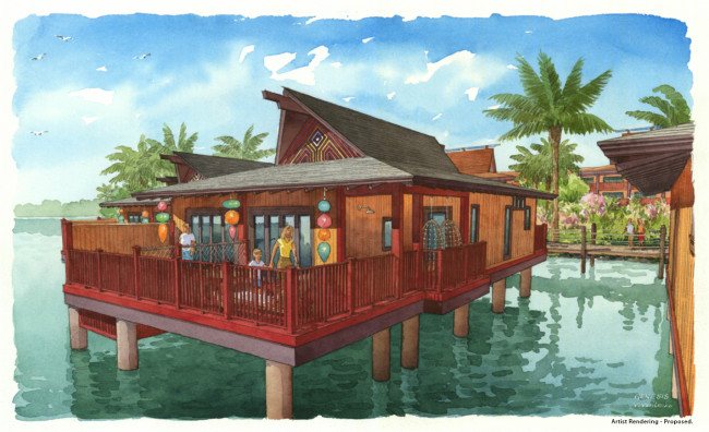 Disney's Polynesian Villas & Bungalows at Disney's Polynesian Village Resort open in 2015. (Photo courtesy of Disney.)