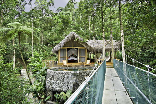 "The Canopy Honeymoon Suite at Pacuare Lodge, a member of National Geographic's ""Unique Lodges"" collection."
