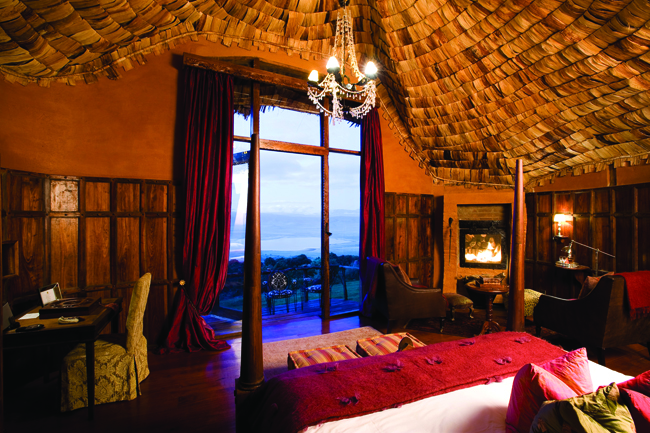 The Ngorongoro Crater Lodge is one of the accommodations on Goway's 32-day  Cape to Cairo Journey.
