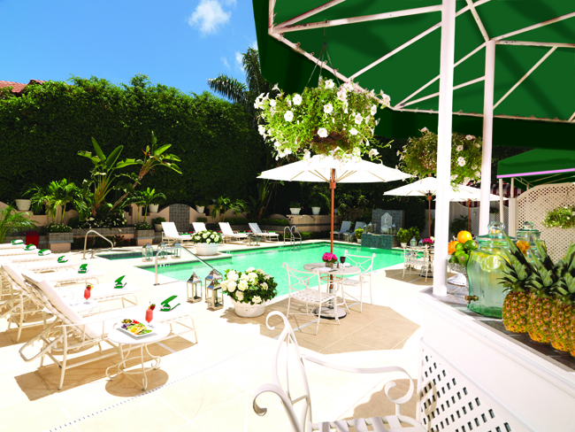 Poolside at the Chesterfield Palm Beach. (Photo credit: The Red Carnation Hotel Collection.)
