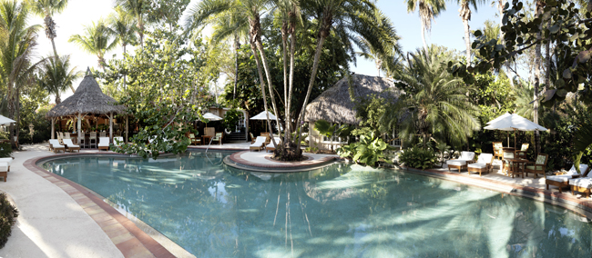 Poolside at Little Palm Island Resort & Spa. (Photo courtesy of Noble House.)