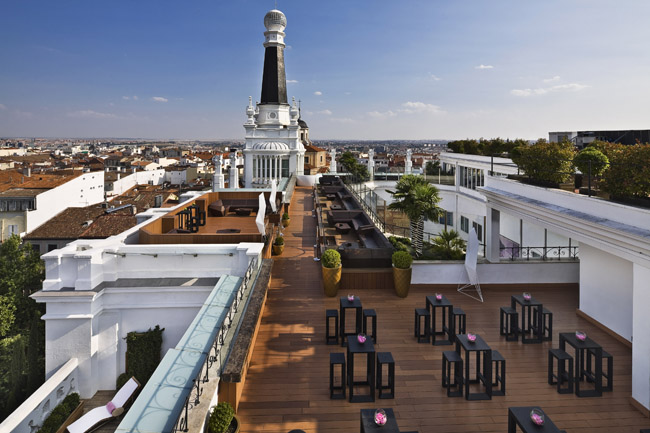 ME Madrid Reina Victoria's The Roof Terrace.
