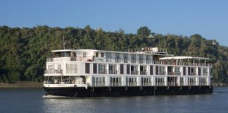 Amapura sailing the Irrawaddy River Amawaterways.