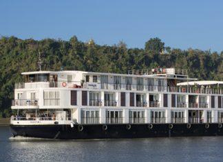 Amapura sailing the Irrawaddy River Amawaterways.