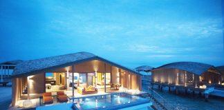 The Club Med Finolhu Villas over water.