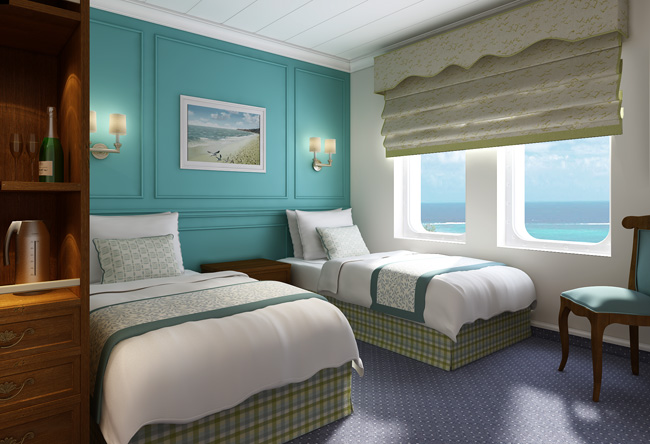 Haimark's category D stateroom.