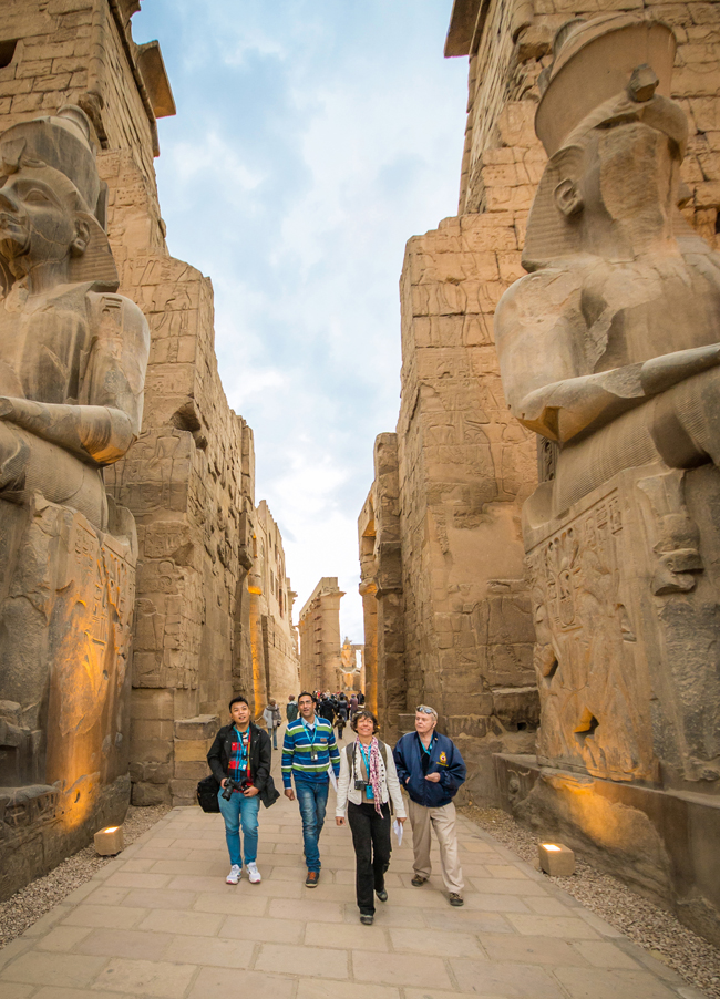 Insight Vacations' guests at the Luxor Temple.