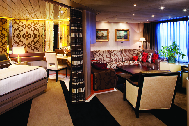 Holland America Lines' Pinnacle Suite.