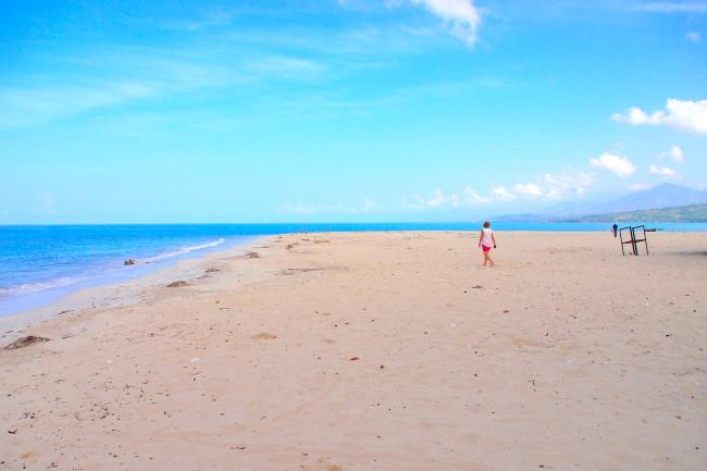 Salut Beach in Haiti.