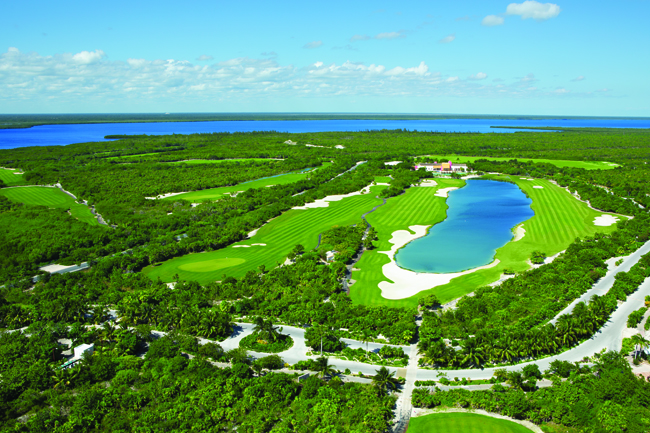 The 18-hole, par 72 Playa Mujeres Golf Course.