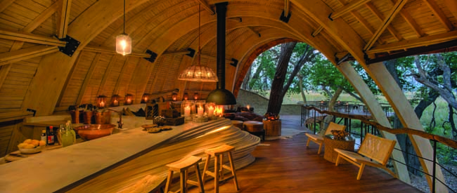 The andBeyond Sandibe Okavango Safari Lodge in Botswana.