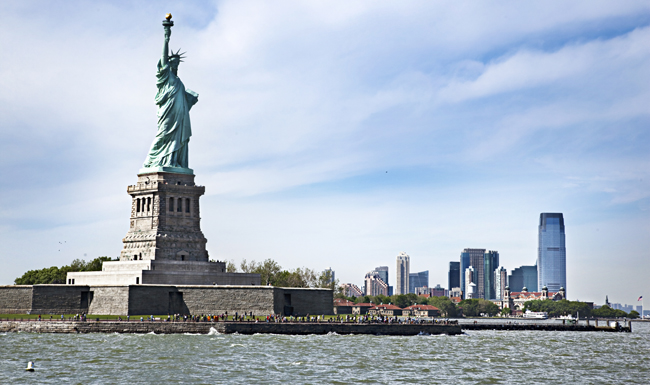 The Statue of Liberty National Monument.