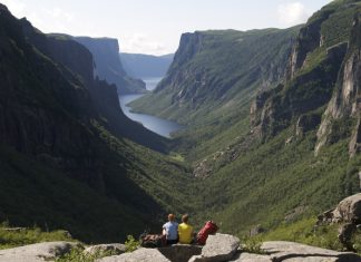 Western Brook Pond at Gros Morne National Park. (Photo courtesy of Newfoundland and Labrador Tourism.)