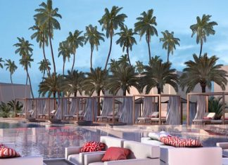 Rendering of Club Med's Zen Oasis pool area.