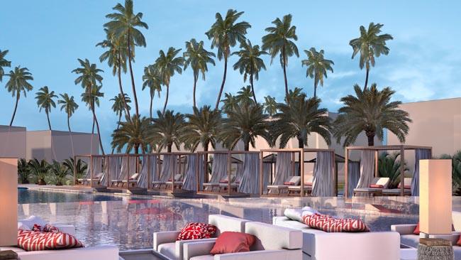 Rendering of Club Med's Zen Oasis pool area.
