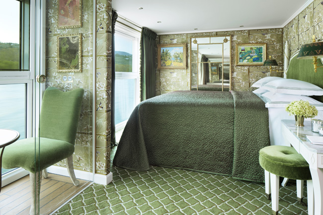 A suite on Uniworld's SS Catherine is similar to what will be on the new SS Maria Theresa.